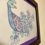 jaan-imports - Handmade Henna Inspired Art- Beautiful Peacock Framed - Khoobsurat Gift Shop - Henna Art