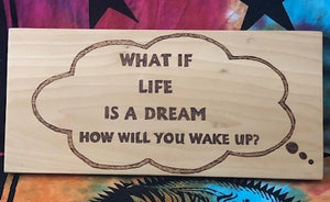 jaan-imports - What If... Quote-Handmade Pyrography Art - Khoobsurat Gift Shop - Pyro Art