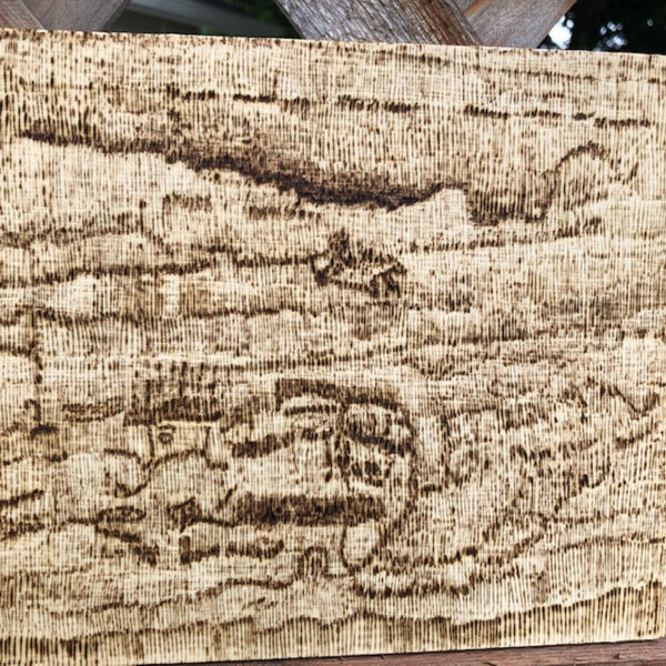 Trippy Art Line Work Pyrography Wood Burning Art
