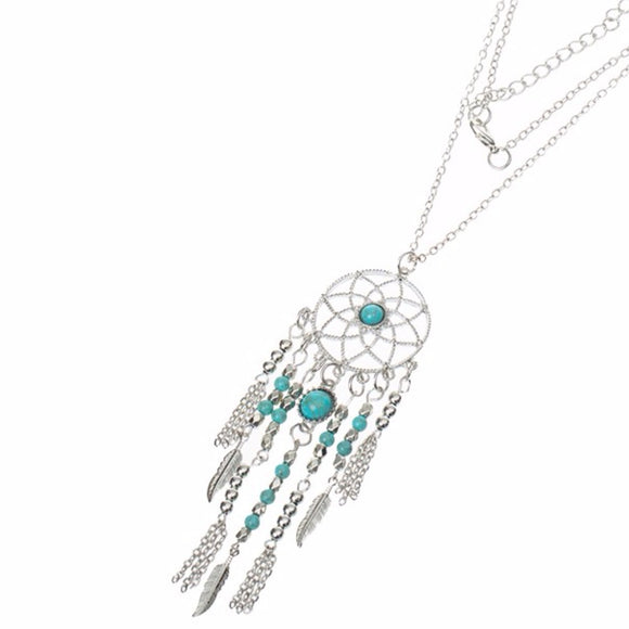jaan-imports - Elegant Dream Catcher Long Necklace - Khoobsurat Gift Shop - Necklace