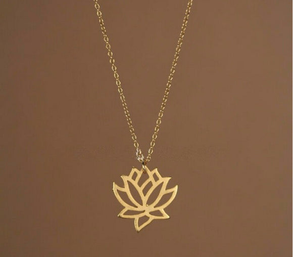 jaan-imports - Lotus Minimalist Necklace (2 Colors) - Khoobsurat Gift Shop - Necklace