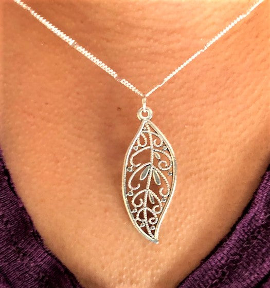 jaan-imports - Leaf Swirl Necklace - Khoobsurat Gift Shop - Necklace