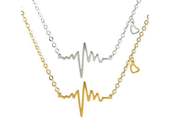 jaan-imports - Heartbeat Elegant Minimalist Necklace in Gold or Silver - Khoobsurat Gift Shop - Necklace
