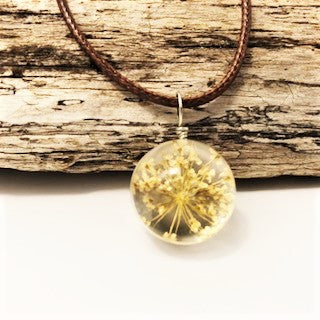 jaan-imports - Dried Flower Ball Necklace (8 Styles) - Khoobsurat Gift Shop - Necklace