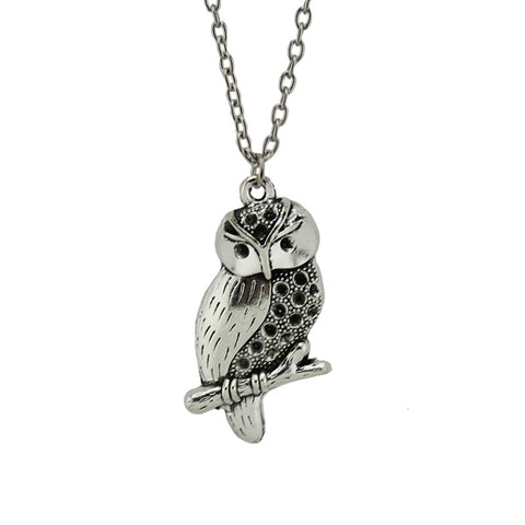 jaan-imports - Wise Owl with Rhinestones Necklace - Khoobsurat Gift Shop - Necklace