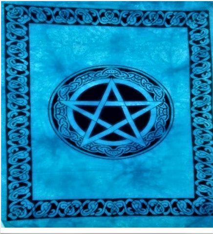 jaan-imports - Star Blue Color Celtic Border Poster Tapestry - Khoobsurat Gift Shop - Poster Tapestry
