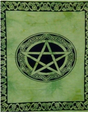 jaan-imports - Green Star with Celtic Border Poster Tapestry - Khoobsurat Gift Shop - Poster Tapestry