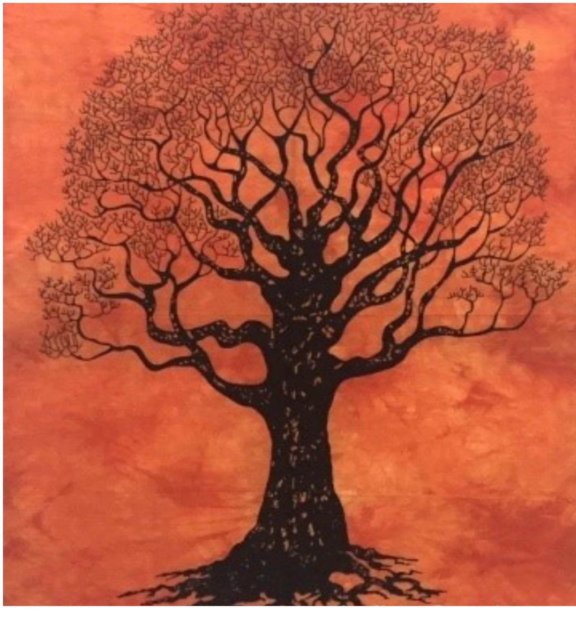 jaan-imports - Orange Tree of Life Poster Tapestry - Khoobsurat Gift Shop - Poster Tapestry