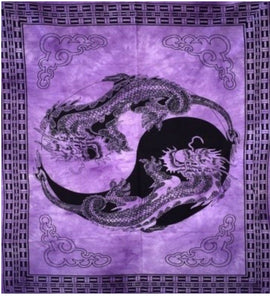 jaan-imports - Purple Color Dragon Yin Yang Poster Tapestry - Khoobsurat Gift Shop - Poster Tapestry