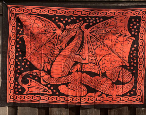 jaan-imports - Red Orange Dragon Poster Tapestry - Khoobsurat Gift Shop - Poster Tapestry