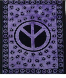 jaan-imports - Purple Peace Sign Poster Tapestry - Khoobsurat Gift Shop - Poster Tapestry
