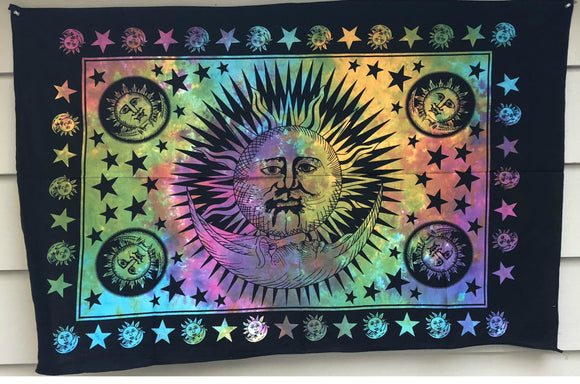 jaan-imports - Sun and Moon Colorful Poster Tapestry - Khoobsurat Gift Shop - Poster Tapestry