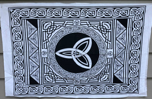 jaan-imports - Black and White Celtic Poster Tapestry - Khoobsurat Gift Shop - Poster Tapestry
