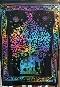 jaan-imports - Elephant Tree of Life Colorful Poster Tapestry - Khoobsurat Gift Shop - Poster Tapestry