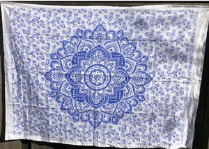 jaan-imports - Dark Blue Purple Flower Poster Tapestry - Khoobsurat Gift Shop - Poster Tapestry