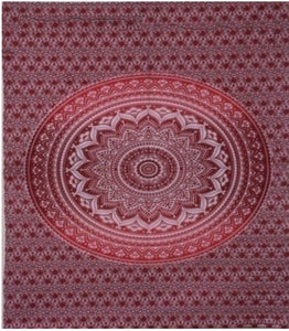 jaan-imports - Red Mandala Poster Tapestry - Khoobsurat Gift Shop - Poster Tapestry