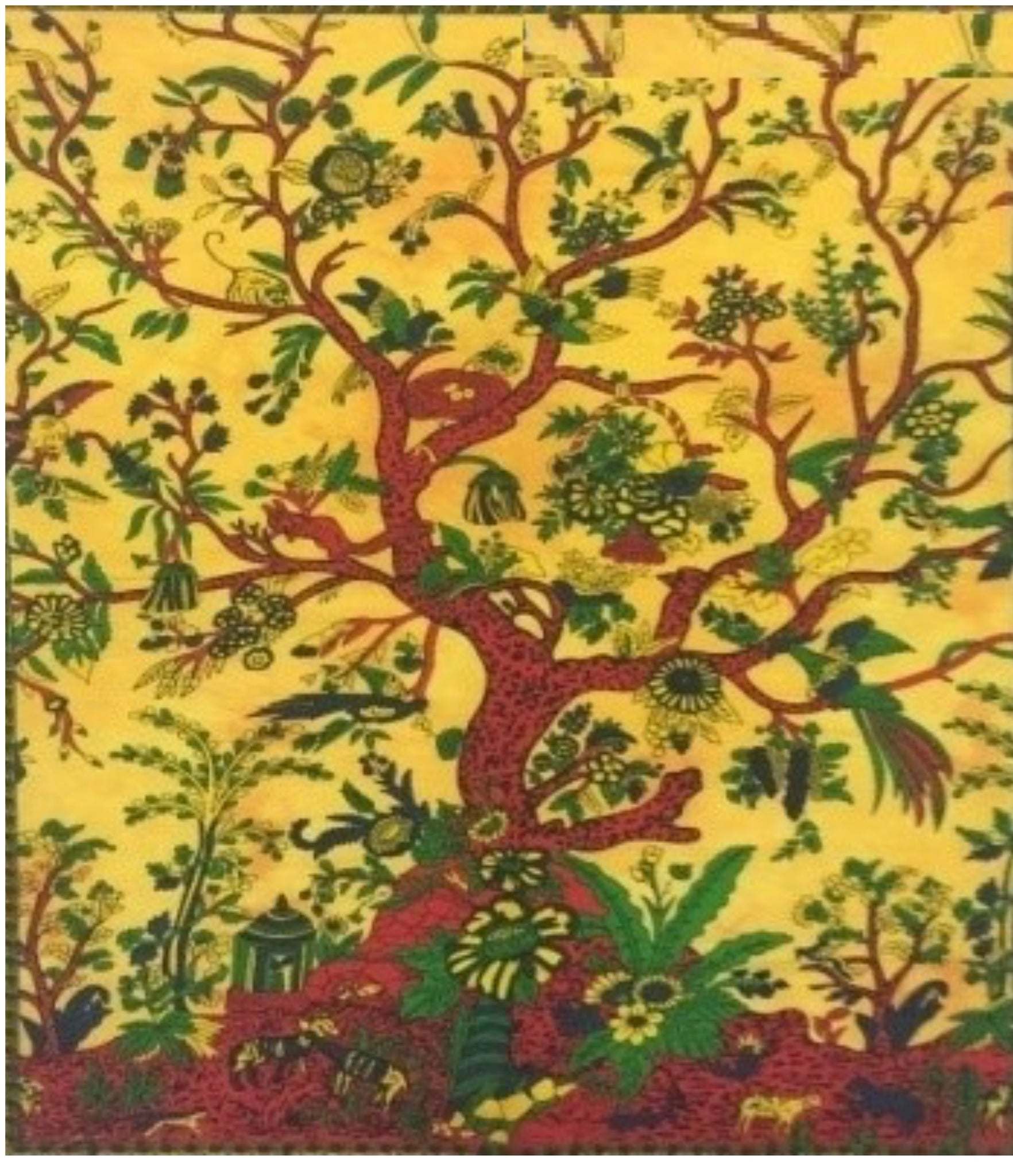 jaan-imports - Yellow Tree Poster Tapestry - Khoobsurat Gift Shop - Poster Tapestry