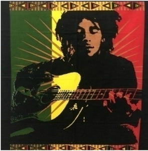 jaan-imports - Bob Marley Guitar Poster Tapestry - Khoobsurat Gift Shop - Poster Tapestry