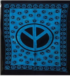 jaan-imports - Blue Color Peace Sign Poster Tapestry - Khoobsurat Gift Shop - Poster Tapestry
