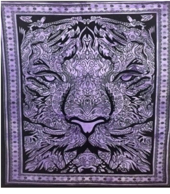 jaan-imports - Purple Color Tiger Poster Tapestry - Khoobsurat Gift Shop - Poster Tapestry