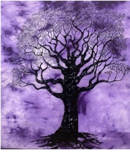 jaan-imports - Purple Color Tree of Life Poster Tapestry - Khoobsurat Gift Shop - Poster Tapestry