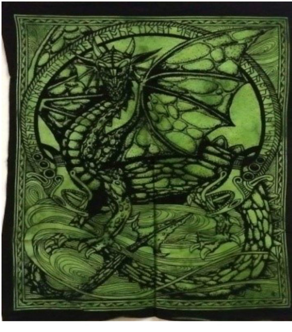 jaan-imports - Green Color Dragon Poster Tapestry - Khoobsurat Gift Shop - Poster Tapestry
