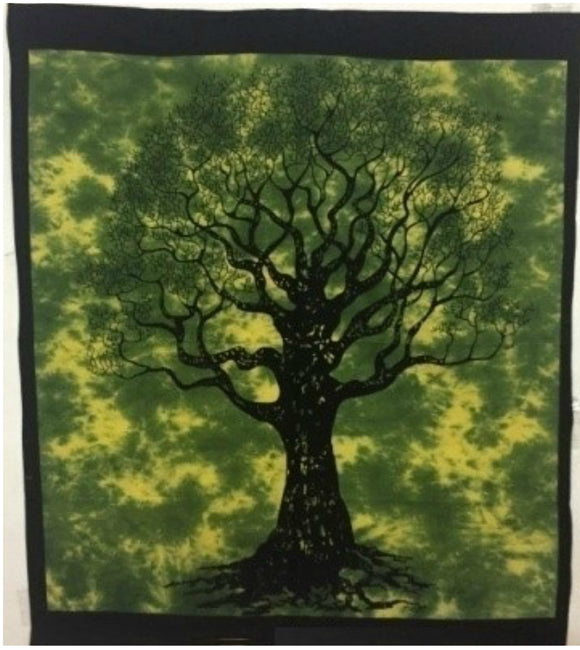 jaan-imports - Green Color Tree of Life Poster Tapestry - Khoobsurat Gift Shop - Poster Tapestry