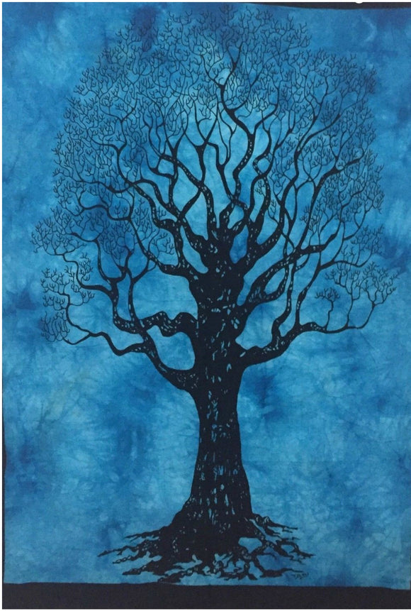 jaan-imports - Blue Color Tree of Life Poster Tapestry - Khoobsurat Gift Shop - Poster Tapestry