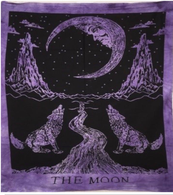 jaan-imports - Purple Color Moon Wolf Poster Tapestry - Khoobsurat Gift Shop - Poster Tapestry