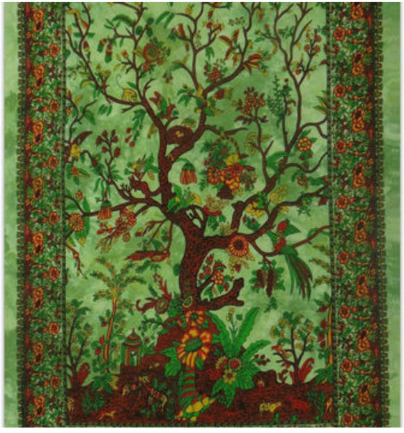 jaan-imports - Green Color Tree Poster Tapestry - Khoobsurat Gift Shop - Poster Tapestry