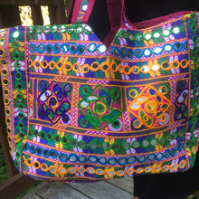 Load image into Gallery viewer, jaan-imports - Pink Multi Color Handmade Extra Large Banjara Bag - Khoobsurat Gift Shop - Banjara ethnic bag