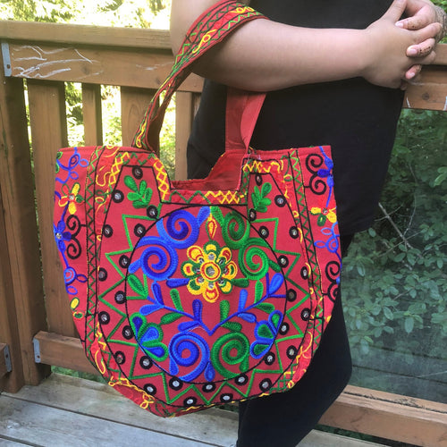 jaan-imports - Red Handmade Large Banjara Bag - Khoobsurat Gift Shop - Banjara ethnic bag