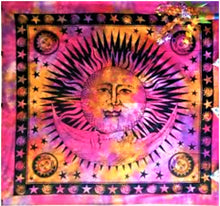 Load image into Gallery viewer, jaan-imports - Sun and Moon Queen Tapestry (4 Color Options) - Khoobsurat Gift Shop - Queen Tapestry
