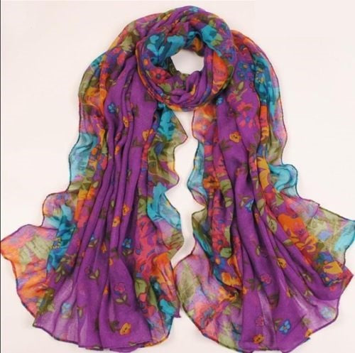 jaan-imports - Floral Scarves (7 Color Options) - Khoobsurat Gift Shop - Scarves