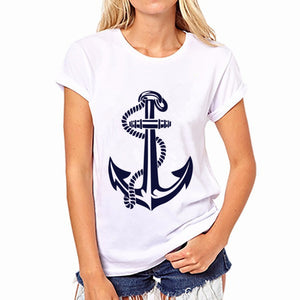 jaan-imports - Anchor White T-Shirt Casual Wear - Khoobsurat Gift Shop - T-Shirts