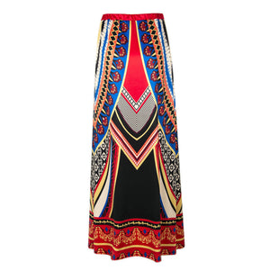 jaan-imports - Geometric Pink Blue Brown Skirt - Khoobsurat Gift Shop - Skirt