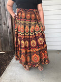 Skirt Wrap Around Mandala Print Traditional Indian Style
