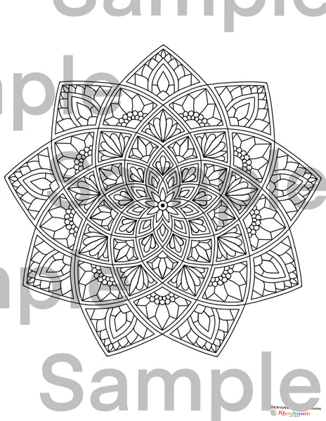 Free Mandala Coloring Pages for Adults and Kids 5 Pages