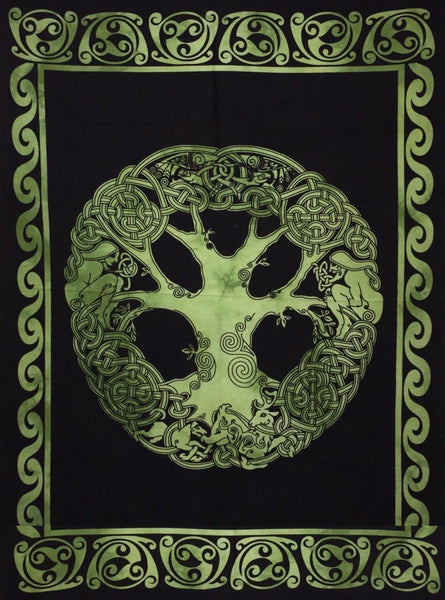 jaan-imports - Celtic Tree of Life Twin Tapestry- (3 Color Options) - Khoobsurat Gift Shop - Twin Tapestry