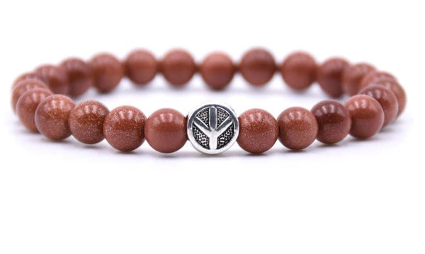 jaan-imports - Peace Natural Stone Beaded Bracelet (10 Colors) - Khoobsurat Gift Shop - Bracelet