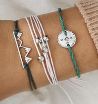 jaan-imports - Set of 3 Mountain Compass Bracelets - Khoobsurat Gift Shop - Bracelet
