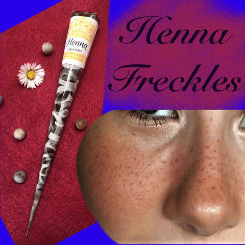Henna Freckles | Faux Henna Freckles Kit | Lavender Henna Cone