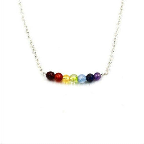 jaan-imports - Chakra Beaded Balance Minimalist Necklace - Khoobsurat Gift Shop - Necklace