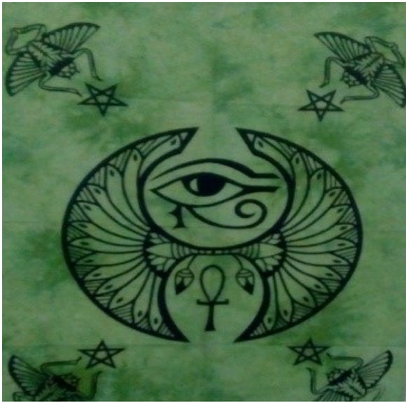 jaan-imports - Protective Eye Green Color Poster Tapestry - Khoobsurat Gift Shop - Poster Tapestry