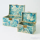Treasure Trunk-Peacock Blue, Small
