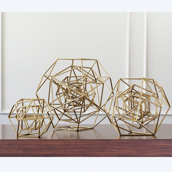 Geo Sculpture-Gold, Small