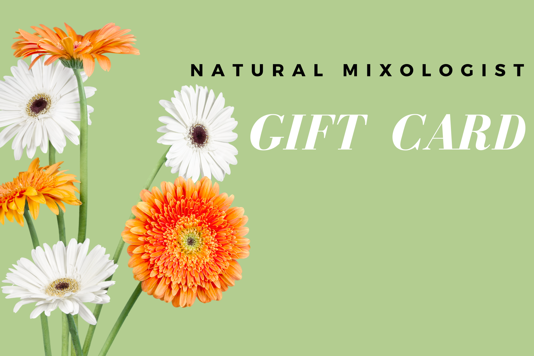 Natural Mixologist Gift Card