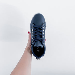 LADIES CLASSIC SNEAKERS NAVY / SNAKE