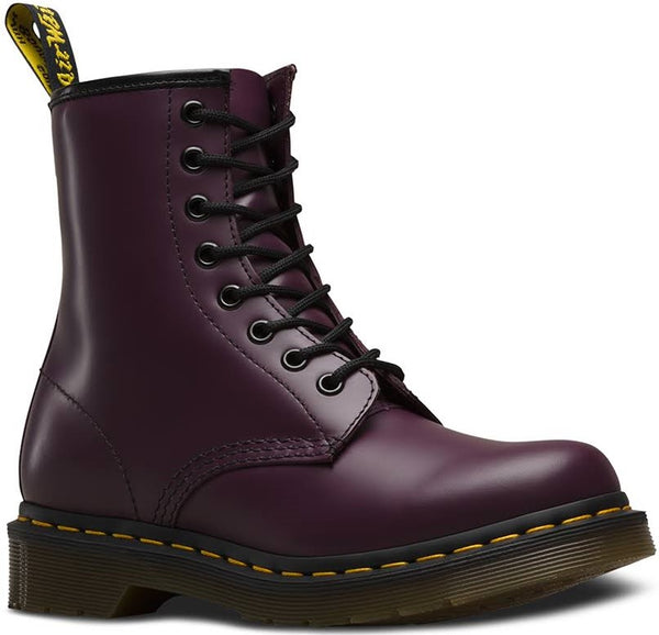 Dr Martens DM'S 1460W 11821500 Womens Purple Leather 8 Eyelet Boots