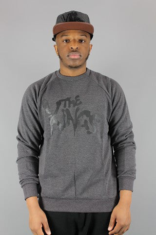 King Apparel Warriors Dark Grey Crew Neck Sweatshirt - 4 Seasons Store